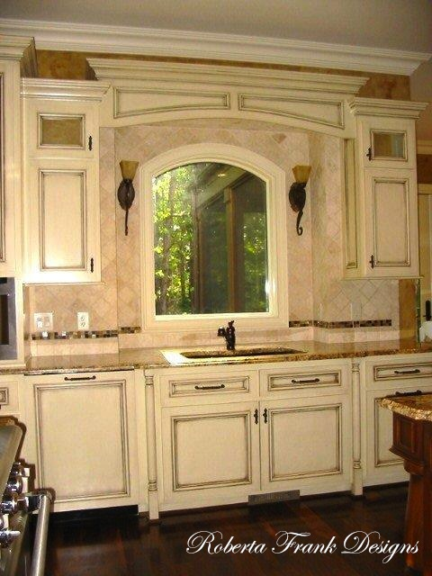 Majestic manor kitchen for Arch kitchen cabinets